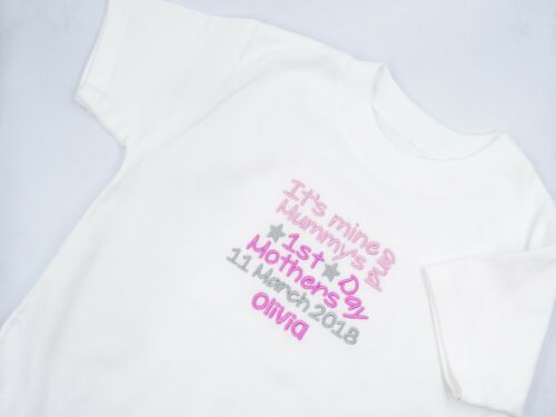 Personalised Embroidered MINE /& MUMMYS HAPPY FIRST 1ST MOTHERS DAY BABY CLOTHING
