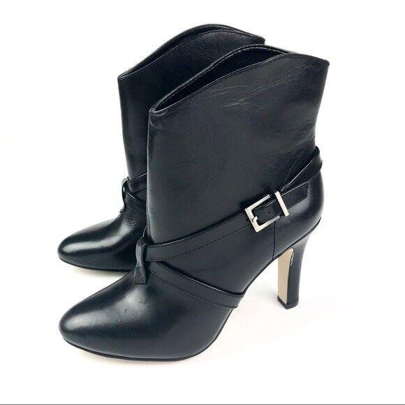 BCBGENERATION Womens 'Dreya' Black Leather Mid Calf Calf Calf Size 9.5 M Boots NEW 31185f