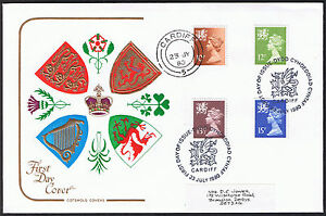 Wales New Definitive Values 4Stamps First Day Cover 23rd July 1980 Cardiff - Belper, United Kingdom - Wales New Definitive Values 4Stamps First Day Cover 23rd July 1980 Cardiff - Belper, United Kingdom