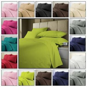Plain-Duvet-Cover-with-Pillow-Case-Quilt-Cover-Bed-Set-Single-Double-amp-King-Size