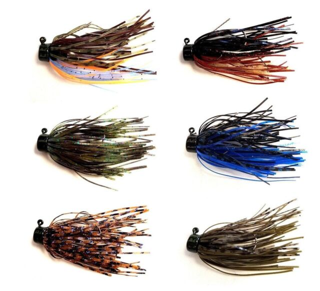 Strike King Lures Swinging Swim Jig 1//4 oz 4//0 Hook Per 1 Black//Blue