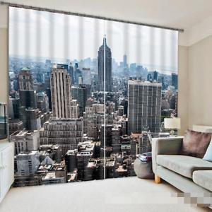 3d ciudad cielo 352 bloqueo foto cortina cortina de impresión sustancia cortinas de ventana