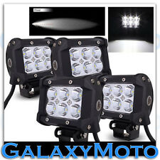 "4pcs 4"" Cree White 6 LED 18w Spot Beam Adjustable Off Road Roof/Work Light bar"