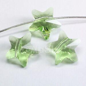 4 pieces Genuine Swarovski Element Crystal 5714 12mm Star Beads PERIDOT