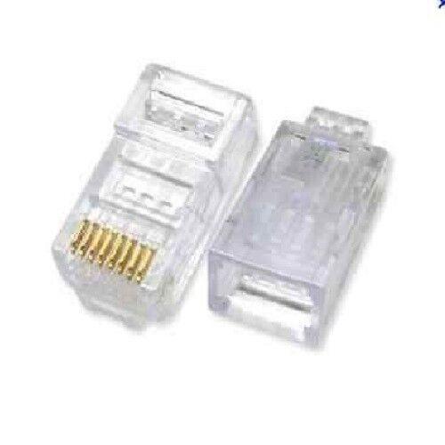 100 Pcs LOT RJ45 Network Cable Modular Plug Cat5 CAT5e 8P8C Connector End