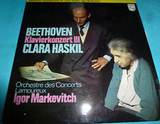 Beethoven Piano Concerto No. 3 Clara Haskil, Markevitch Philips NM LP