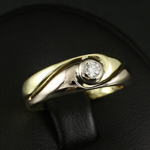 Eleganter-Brillant-Ring-0-10-ct-Wesselton-IF-graviert