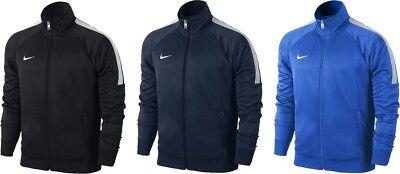 Nike Mens Team Club Trainer Jacket Top Football Tracksuit Soccer Black S M L XL   eBay