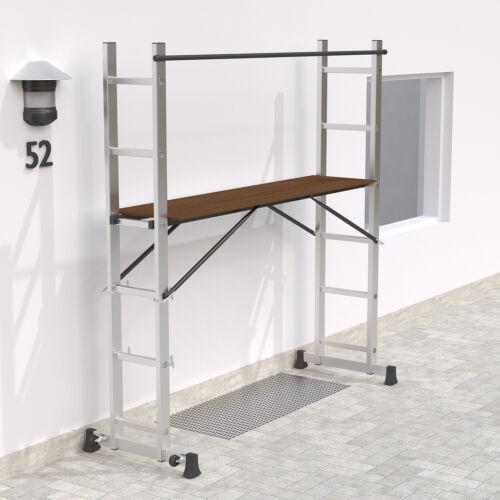 Alu Multigerüst Multifunktionsleiter Gerüst Leiter Stehleiter Klappleiter stabil