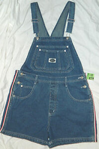 Womens R V T Jeans Brand Denim Overall Shorts size Smal