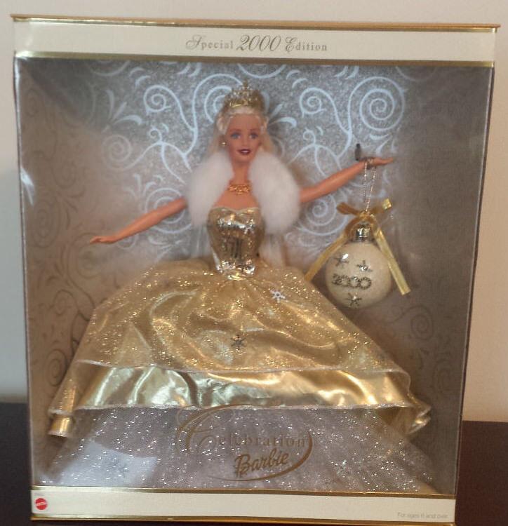 Nuevo En Caja celebración navideña año 2000 edición especial de Barbie Y2K Muñeca Mate