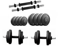 Protoner 12Kg Rubber Dumbells Sets With 2 Rods ,  12Kg Weight