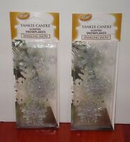 Yankee Candle Scented Snowflake Ornaments sparkling Snow Set Of 2 Packs