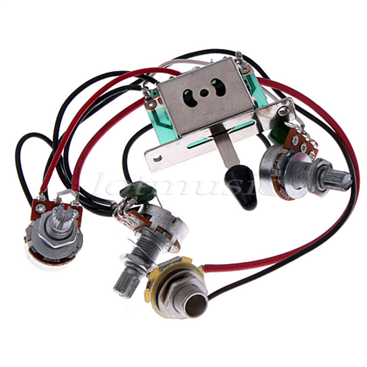 5set electric guitar wiring harness for st pickup 5 way toggle switch pots jack 634458562287 ebay. Black Bedroom Furniture Sets. Home Design Ideas