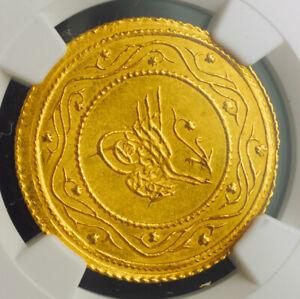 1816-Turkey-Sultan-Mahmud-II-Gold-2-Rumi-Altin-Coin-4-77gm-NGC-MS-61
