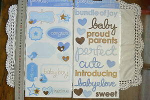 BABY-BOY-Sticker-Packs-x-2-FLAT-Accents-amp-Phrases-22-Stickers-Total-L4R