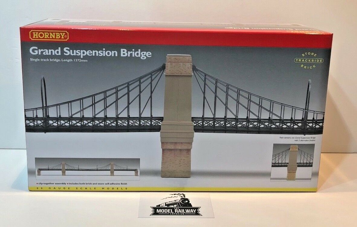 HORNBY 00 GAUGE - R8008 - GRAND SUSPENSION BRIDGE KIT TO BUILD - NEW BOXED