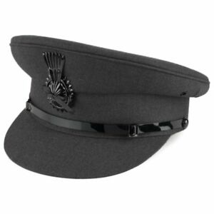 Chauffeur Driver Cap Mens Formal Professional Quality Hat Black or Navy Blue.
