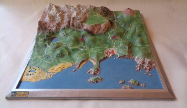 2019 Ultimo Disegno Plastico Diorama Geografico Didattica Scolastica Vallardi Scuola Anni 50/60/70