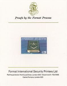 St Kitts 3042 - 1985 MASONIC LODGE $1.20 on Format International PROOF CARD