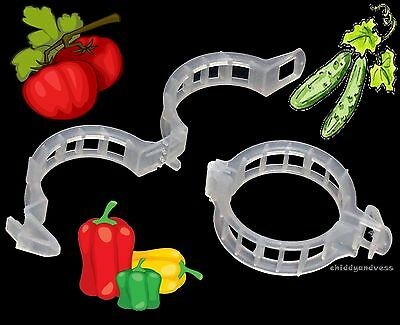 500 JUMBO/XL Tomato Clips - Supports/Connects Plants/Vines Trellis/Twine/Cages