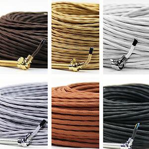 Relativ Textilkabel Stoffkabel 3 adrig Lampen-Kabel extra dünn f PB38