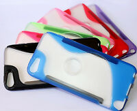 For Ipod Touch 5th / 6th Gen - Transparent Tpu Gummy Hard Rubber Skin Case Cover