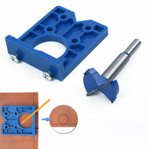 Concealed Hinge Hole Jig For Kitchen Cabinet Doors With Drill Bit Tool Sale Ebay