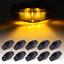 "Amber//Smoke Lens 10x 2.5/"" LED Trailer Side Marker Clearance Lights Universal"
