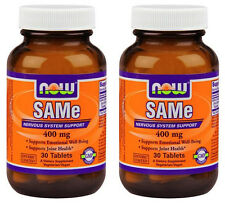 2-Pack Of SAMe 400 mg 30 Tabs, Now Foods, Emotional Well-Being & Joint Health