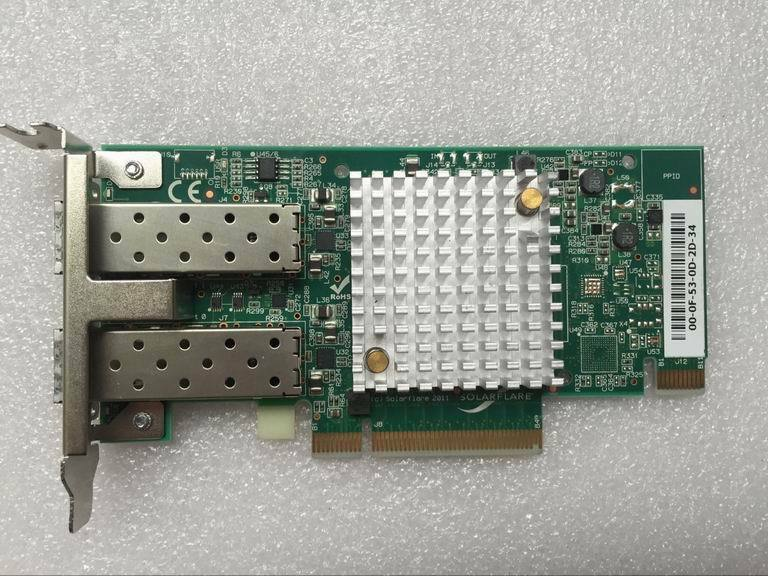 Solarflare SFN6122F Dual-Port 10GbE PCI-E Adapter Card with Low Profile Bracket
