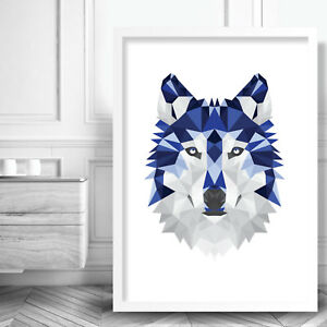 A1 A2 A3 A4 A5 Wolf Woods  Vintage Art Print Poster