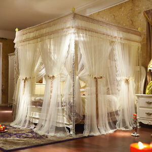 Mosquito Net Double Layers Bed Curtain Luxury Bed Netting Beautify
