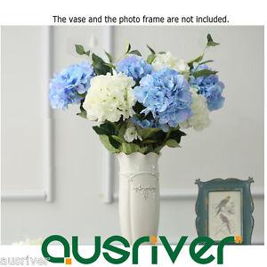 2Heads-Artficial-Fake-Hydrangea-Flower-Home-Wedding-Bridal-Party-Room-Decoration