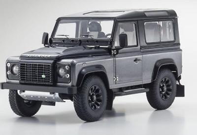 Contemporary Manufacture 1/18 Kyosho Land Rover Defender 90 Corris Gray Black Diecast Black Grey 08901cgr