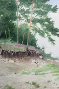 Gustav-Mueller-Aquarell-Foehren-am-Grubenrand-September-1976