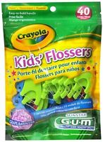 Gum Crayola Kids' Flossers 40 Each (pack Of 2)