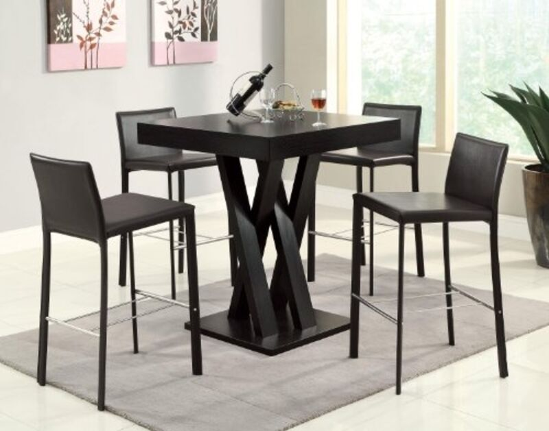 Square Bar Table Room Kitchen Pub Dining Furniture Bistro Dinette Counter Height Online Ebay