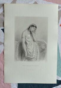Belle Gravure XIXème - Sara Femme de Tobit - Ancien Testament - G.Staal ggNPUNNQ-09155002-571162275