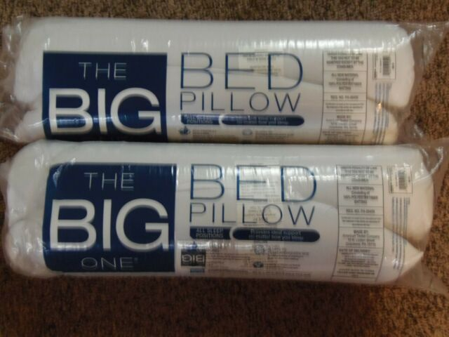 "2 NEW - The Big One Microfiber Pillow Soft Standard/Queen 20"" x 28""  (APT-BR)"