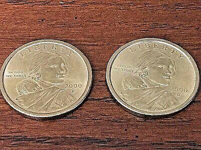 2000P SACAGAWEA GOLDEN DOLLAR COLORIZED COIN