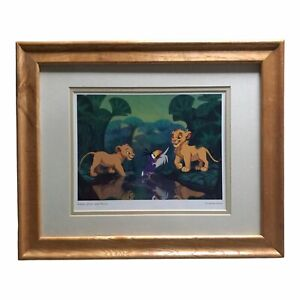 Walt Disney Lion King Simba, Zazu, And Nala Framed Matted Print