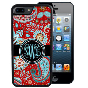 Monogram-Case-Fits-iPhone-XR-XS-MAX-8-7-6-Plus-Red-Blue-Paisley