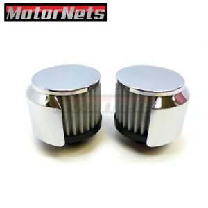 """3/"""" washable Valve Cover Filter Breather Push-In Chrome Chevy Ford Mopar SBC BBC"""