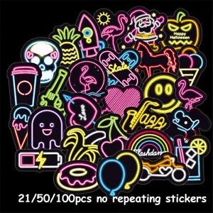 DIY-Craft-Guitar-Decals-Motor-Car-Neon-Light-Stickers-Suitcase-Bike-Decor
