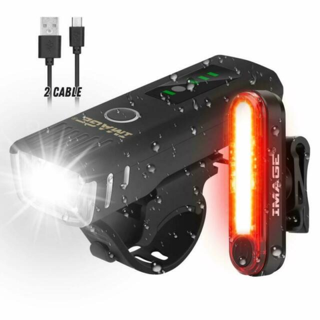 LED Bicycle Lights 1000 Lumens Super Bright Front And Back Rear USB Bike Set