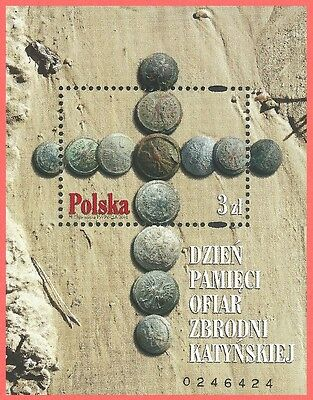 POLAND 2010 3978 WWII VICTIMS KATYN MASSACRE BY SOVIETS SOUVENIR MINT
