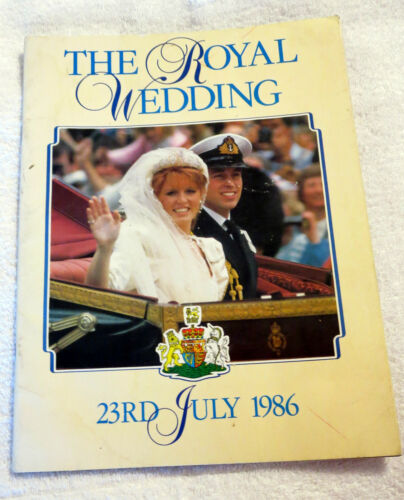 1986 The Royal Wedding of Duke of York Commemerative Booklet
