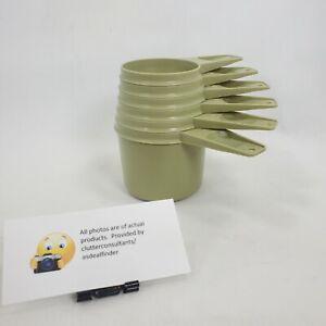 Vintage Set of 6 Tupperware Stacking Measuring Cups Green