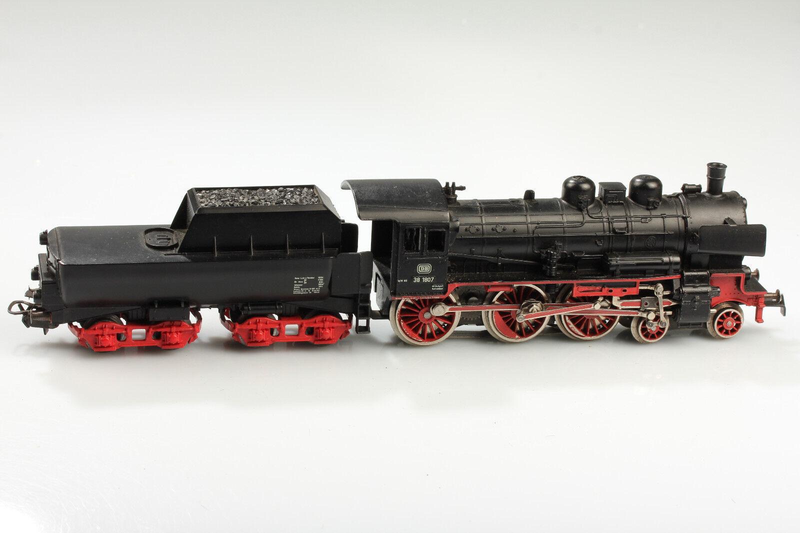 Märklin H0 Locomotiva a Vapore Db Br 38 1807 Läuft&schaltet&licht Ok Sporco